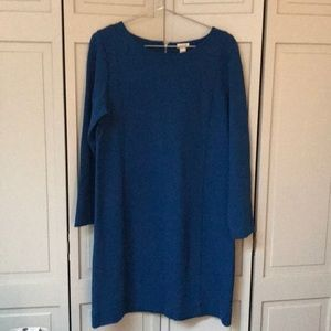 J Crew Blue Zip Back Dress Size Large